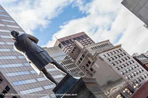 Samuel Adams statue back