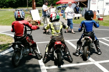 Brandon with his buddies at Sandy Hook Raceway for NJ MiniGP in 2011